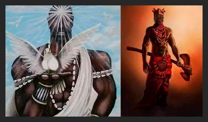 Shango y Obatala